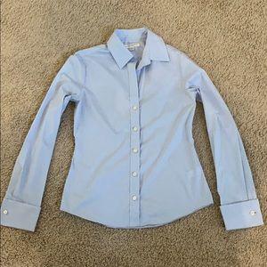 Light blue button down shirt